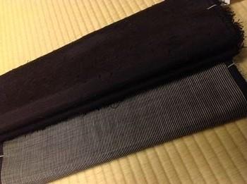奄美間道大島とヒゲ紬羽織_R