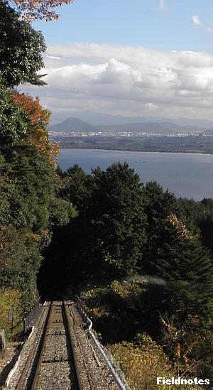 坂本ケーブルから見える琵琶湖
