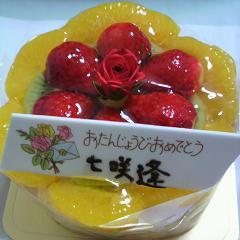 七咲逢誕生日ケーキ3