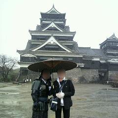 熊本城ツーショット