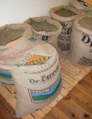 ダイナミックな量のコーヒー豆