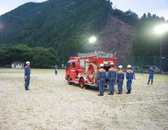 消防の大会の訓練