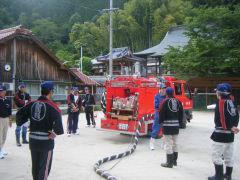 消防大会の練習