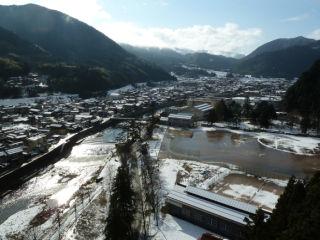 新春の城下町