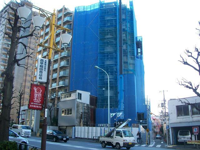 佐々木本社ビル建築中