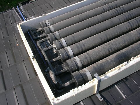 自作太陽熱温水器
