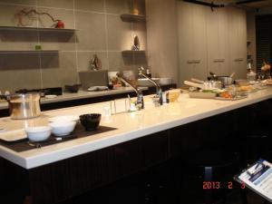 TDY(TOTO、DAINEN、YKK AP)のコラボショールームのTOTOのキッチンスタジオ