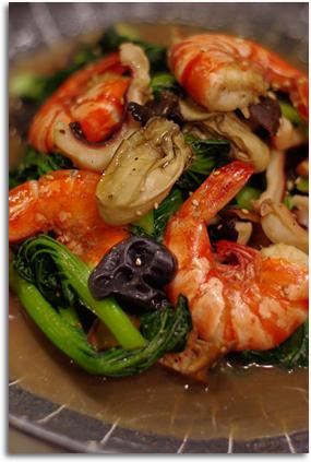 ターサイと海鮮炒め