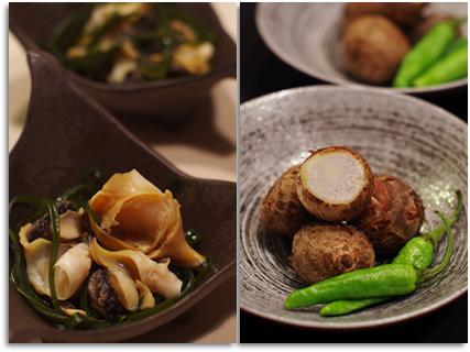 つぶ貝と里芋