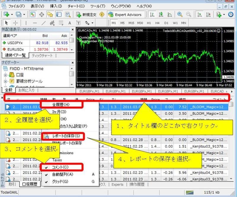 FXツール研究所【無料サポート】ブログ-MT4TradeHistoryDL