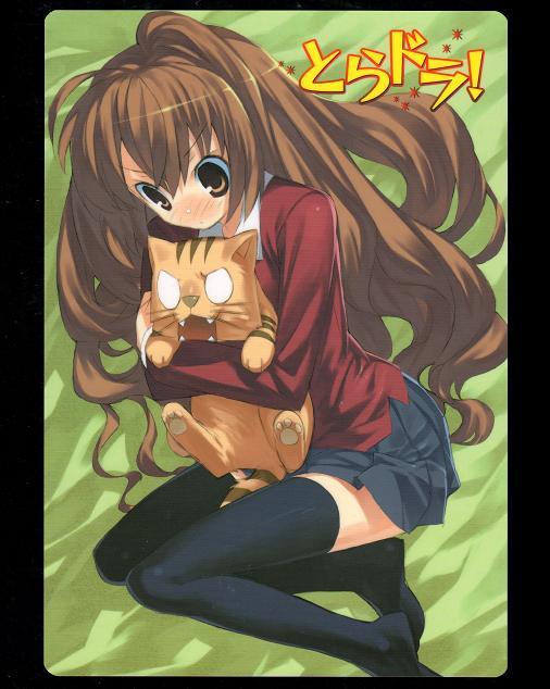 電撃文庫MAGAZINE Vol,1 2008年5月号付録 「とらドラ!」下敷き