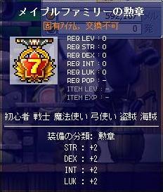 装備・メイプルファミリーの勲章