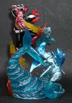 仮面ライダーアギト バーニングフォームVSエルロード 水のエル