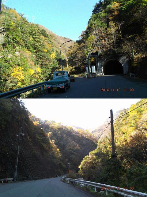 根尾の山奥の紅葉が綺麗な道20141110