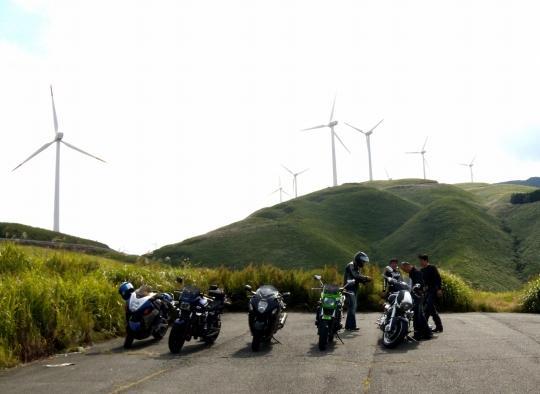 俵山の風力発電