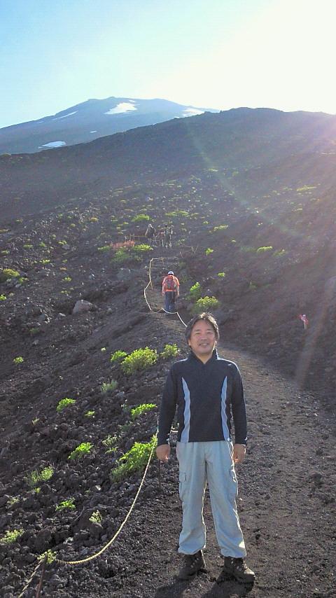 富士山に遊ぶ
