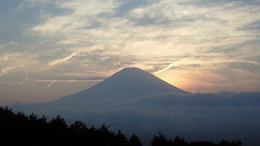 御殿場からの富士の夕日