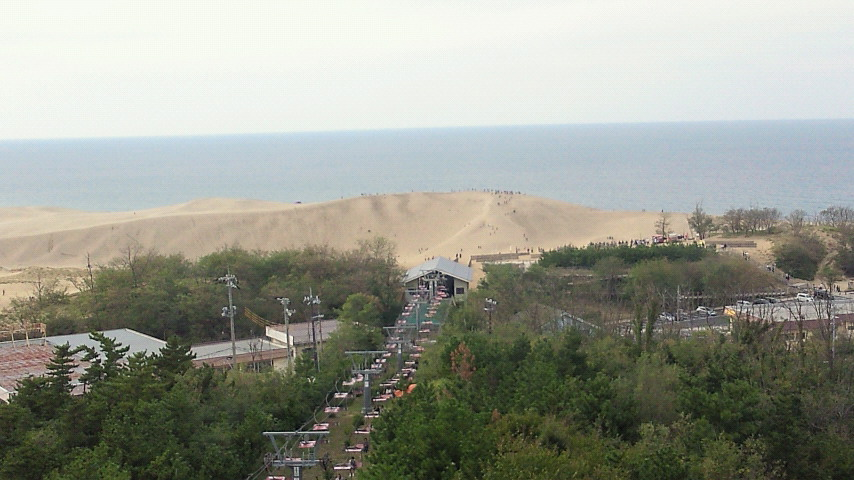 砂丘の展望台から