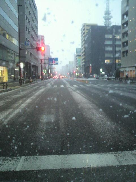 福岡の寒い日に