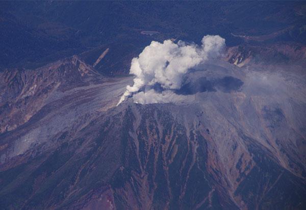 噴火した御嶽