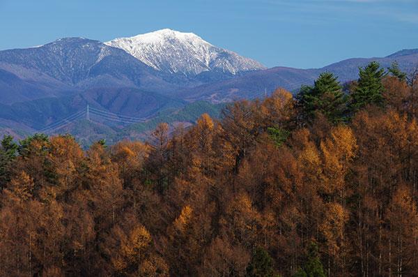 古田峠から冠雪の早池峰