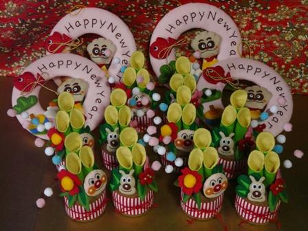 クリームパンダのお正月飾り & アンパンマンとめいけんチーズの門松飾り 2