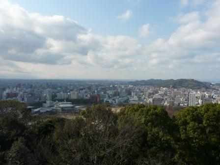 松山城・本丸広場からの眺め