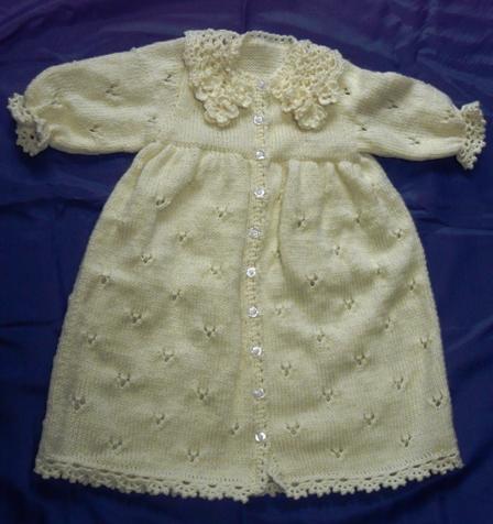 編み物 ベビードレスセット 1