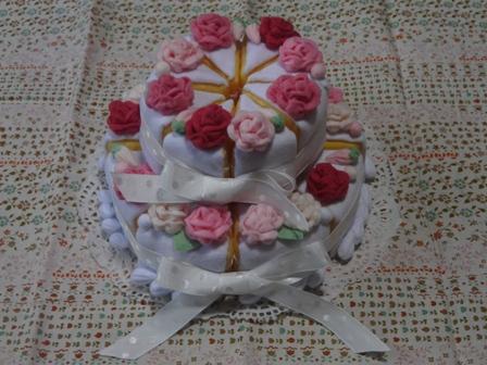 フェルト手芸 ウェディングケーキ 1