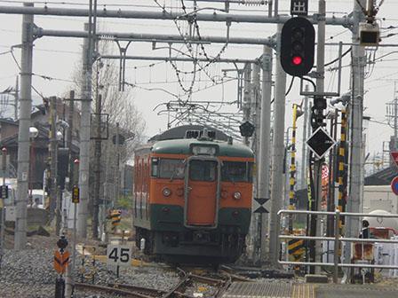 JR佐野駅 115系電車 2
