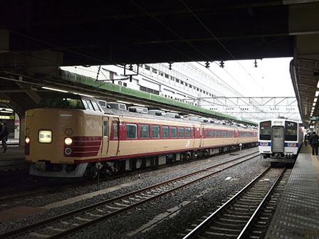 JR小山駅 183系 & 415系