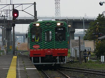 真岡鐵道・下館駅 モオカ14形気動車 1