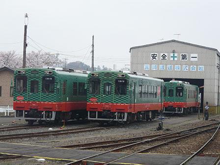真岡鐵道・真岡駅 モオカ14形気動車