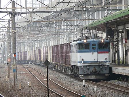 JR小山駅 貨物列車・EF65形電気機関車