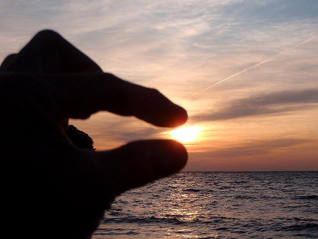 堂ヶ島の夕陽