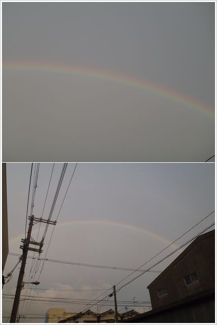 2011-07-12まさか 虹が見えるとは‥