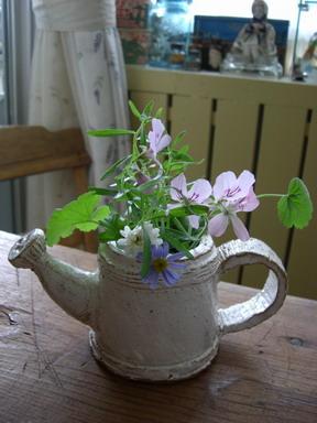 ベランダの小花
