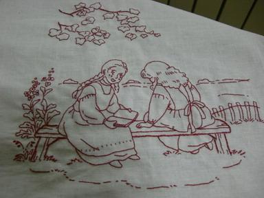 娘、刺繍1