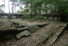 ばんちゃんの旅案内 -日本全国自走の旅--金田城頂上の日本軍遺構