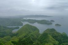 ばんちゃんの旅案内 -日本全国自走の旅--金田城頂上からの景色