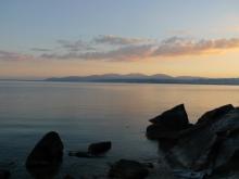 ばんちゃんの旅案内 -日本全国自走の旅--海津大崎から琵琶湖を望む