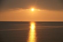 ばんちゃんの旅案内 -日本全国自走の旅--日本海の夕日