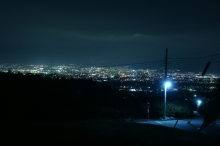 キャンプ場からの夜景