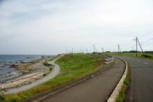 尻屋崎への道
