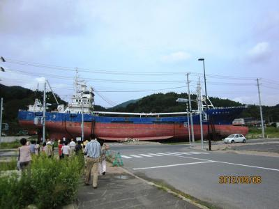 6気仙沼 陸揚げ船