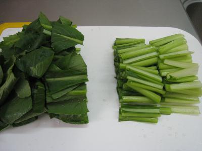 小松菜の煮浸し②