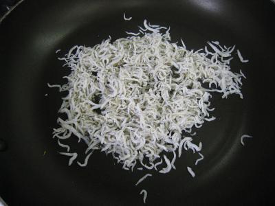 小松菜のジャコ炒め②