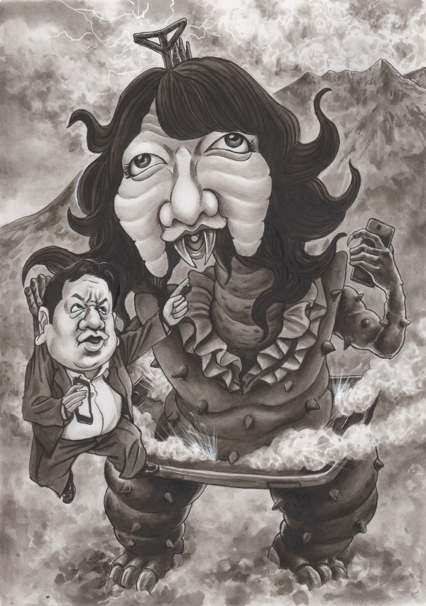 片山さつき 枝野幸男 風刺漫画