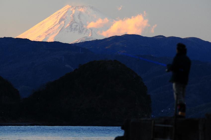 2013 01 19 川奈港富士山3S*