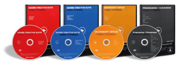 パソコン教室!397時間動画パソコン教室DVD4枚組ホームページ作成、オフィス(ワード、エクセル、パワーポイント、アクセス)2003/2007,Photoshop,Illustrator,Dreamweaver